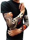 10st som kroppsutsmyckning arm strumpor slip tillbehör falska tillfälliga tatuering ärmar, tiger, krona hjärta, skalle, stam form
