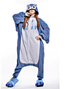 kigurumi Pyjamas New Cosplay® / Chouette Collant/Combinaison Fete / Celebration Pyjamas Animale Halloween Bleu Mosaique Polaire Kigurumi