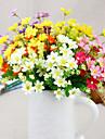 siden prästkragar konstgjorda blommor flerfärgad tillval 1st / set