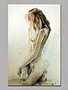 HANDMÅLAD Människor / nakenStil / Moderna En panel Kanvas Hang målad oljemålning For Hem-dekoration