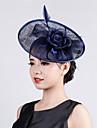 Womens Sinamay Flower Fascinator Cocktail Wedding Hat