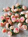 Wedding Décor 50pcs Artificial Silk Roses Flowers Head  Baby Shower Party Decorations Favors(More Colors)