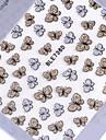 belle argent paillettes arc ongles bijoux