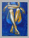 Peint a la main Personnage / NuModern Un Panneau Toile Peinture a l\'huile Hang-peint For Decoration d\'interieur