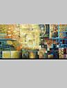 HANDMÅLAD Abstrakt / Djur / fantasi / Abstrakta landskapModerna En panel Kanvas Hang målad oljemålning For Hem-dekoration
