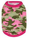 Chat Chien Tee-shirt Vert Rouge Rose Vetements pour Chien Ete Printemps/Automne camouflage Mode
