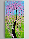 oljemålning pengar träd med kniv hand målade med sträckt inramade redo att hänga