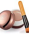 kontur ansiktskräm makeup concealer + trähandtag borste