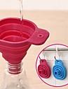 pliables outils de cuisine entonnoir de style tremie de cuisine pliables en gel de silicone (couleur aleatoire)