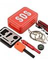 Kit de survie Randonnees / Camping / Voyage / Outdoor Kit de Secours / Urgence Aluminium Rouge