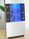 fuktighet mete lcd digital temperaturinstrument termometer hygrometer temperatur luftfuktighet mätare klocka