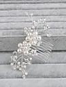 Femei Perle Diadema-Nuntă Ocazie specială Informal Birou & carieră Exterior Piepteni de Păr 1 Bucată