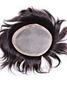 """mens moumoute 6 """"x8"""" cheveux systemes des morceaux de cheveux humains toppers cheveux hommes mono moumoute de base"""