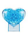 Pussel 3D-pussel Kristallpussel Byggblock GDS-leksaker Hjärtformad ABS Brun Modell- och byggleksak