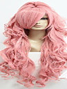 90cm lång vocaloid-Megurine luka rosa cosplaya kostym anime peruk + en hästsvans