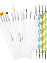 20 st / set nail art utspridda verktyg (15 stycken manikyr borstar + 5 st prickar penna) nail art penna