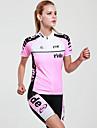 Mysenlan Maillot et Cuissard de Cyclisme Femme Manches courtes Velo Ensemble de VetementsSechage rapide Resistant aux ultraviolets