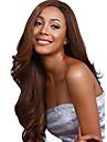 lång längd vackert hår europeisk väva brun färg hår syntetisk peruk