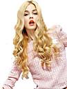 Fashion Lady stil Capless mode långt lockigt blond syntetisk peruk