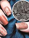 2016 dernier modele de la mode version nail art plaques de modele d\'image estampage