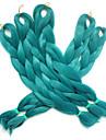 "Jumbo boites Tresses Ombre Braiding Hair Kanekalon Vert Extensions de cheveux 24 "" Cheveux Tressee"