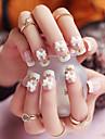 24pcs / som falsk naglar falska spik färdiga manikyr naglar tips rosa pläd