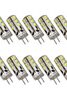 3W G4 LED a Double Broches T 24 SMD 2835 280 lm Blanc Chaud Blanc Froid Decorative DC 12 V 10 pieces