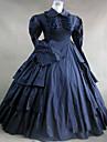 Une Piece/Robes Gothique / Doux / Lolita Classique/Traditionnelle / Punk Steampunk® Cosplay Vetements de Lolita Bleu Encre Couleur Pleine