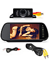 """7 """"HD LCD backspegeln monitor + bil bakifrån säkerhetskopia backkamera kit mörkerseende"""