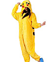 kigurumi Pyjamas Pika Pika Collant/Combinaison Fete / Celebration Pyjamas Animale Halloween Jaune Motif Animal Flanelle Kigurumi Pour