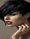 mode svart 1b färg kort lockigt kvinna syntetiska peruker hår