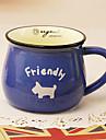 klassiska kreativa blå keramikmugg kopp
