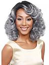 Femme Perruque Synthetique Ondules Argent Coupe Carre Perruque Halloween Perruque de carnaval Perruque Deguisement