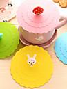 dia 11cm olika tecknade djur silikon kopp täcka kreativa färg mugg cap ware (slumpvis färg)