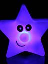 kreativa färgskiftande akryl stjärna ljus färg femstjärniga ledde nattlampa liten lykta heminredning