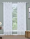 Deux Panneaux Moderne Solide Blanc Salle de sejour Polyester Sheer Rideaux Shades