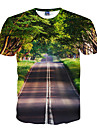 Inspire par Cosplay Cosplay Manga Costumes de Cosplay Cosplay T-shirt Imprime Vert Manche Courtes Manches Ajustees Pour Unisexe