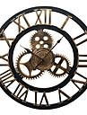 fer cru style europeen mur muet horloge (couleur bronze)
