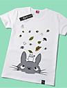 Inspirerad av Min granne Totoro Katt Animé Cosplay-kostymer Cosplay T-shirt Tryck Gul Kort ärm T-shirt För Unisex