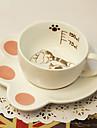 vackra brun katt-kaffemuggar kopp