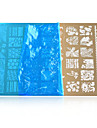1pcs nail art estampage des plaques modeles de bricolage outils d\'art de vernis a ongles hk06-11
