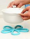plommon blomma bildar den varma isolering pad halk bord pvc potten pad slumpmässig färg