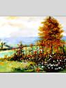 HANDMÅLAD Abstrakta landskapKlassisk / Realism / Parfymerad / Europeisk Stil / Moderna En panel Kanvas Hang målad oljemålning For