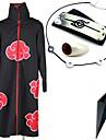 Inspirerad av Naruto Itachi Uchiha Animé Cosplay Kostymer/Dräkter cosplay Suits / Mer accessoarer Tryck Svart Kappa / Mer accessoarer