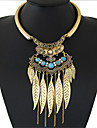 Necklace Turquoise Statement Necklaces Jewelry Party Fashion / Bohemia Style Alloy Gold / Silver 1pc Gift