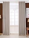 Două Panouri Tratamentul fereastră Modern , Solid Dormitor Raion Material Blackout Perdele Draperii Pagina de decorare For Fereastră