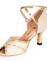 Latin - Pantofi de dans (Auriu) - Personalizat - Pentru femei/Pentru Copii