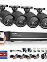 sannce® 4ch AHD dvr 4st 720p ir väder utomhus CCTV kameraövervakning hemsäkerhet kit CCTV-system