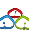 anneau en forme d\'oeuf en forme de coeur de silicone et crepiere oeuf frit friture moule de cuisson de crepes (couleur aleatoire)