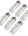 18W E14 / E26/E27 Ampoules Mais LED T 69 SMD 5730 1700 lm Blanc Chaud / Blanc Froid Decorative AC 100-240 / AC 110-130 V 6 pieces